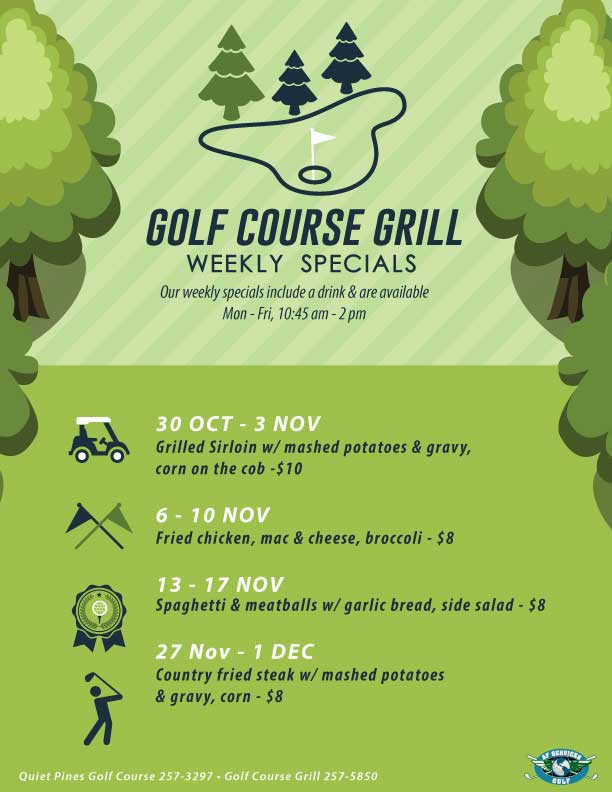 November Golf Lunches Flyer