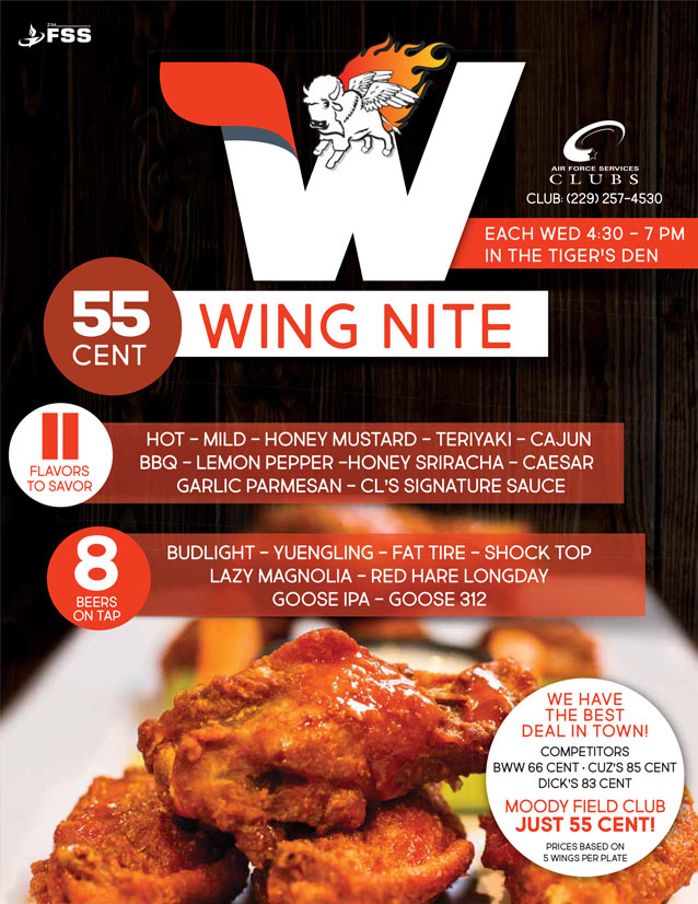 $.55 Wing Nite @ Club