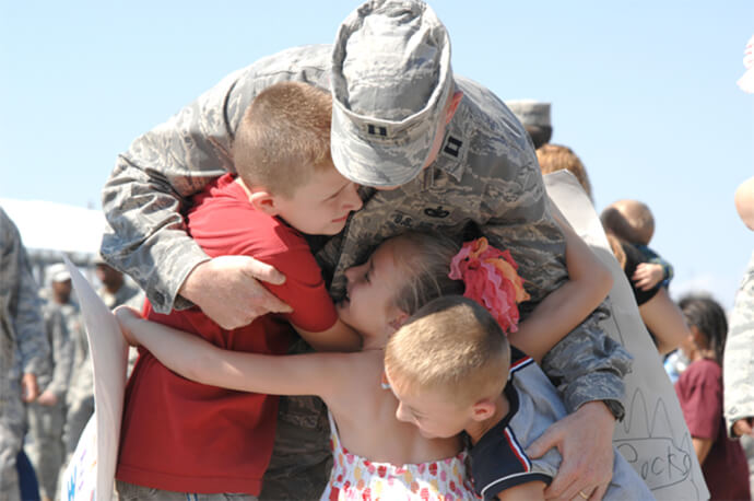 Homecoming at Moody Air Force Base