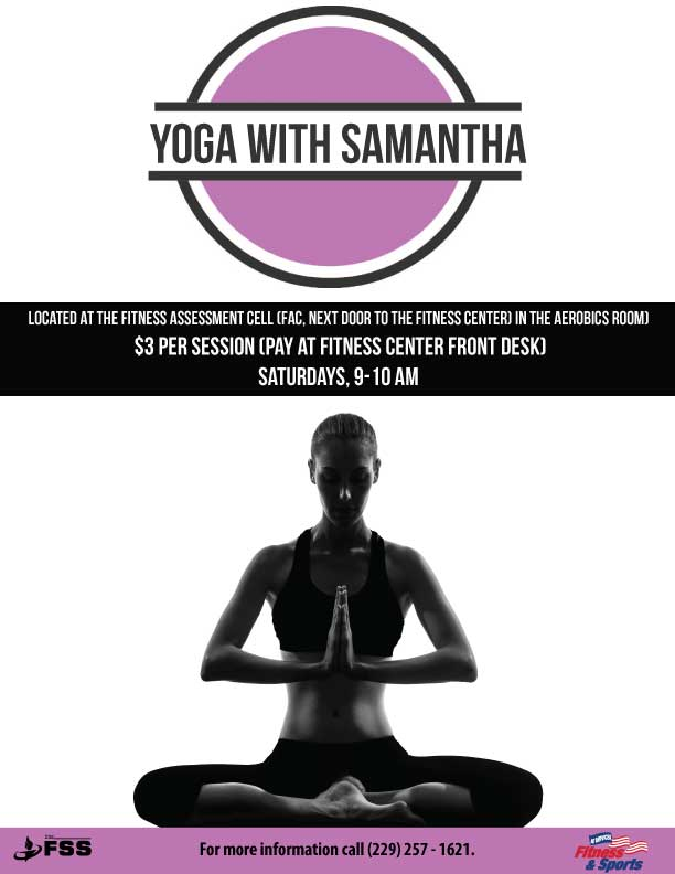 Yoga with Samantha Flyer