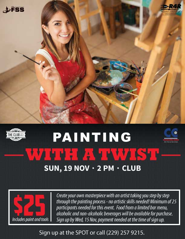 November Painting With A Twist Flyer