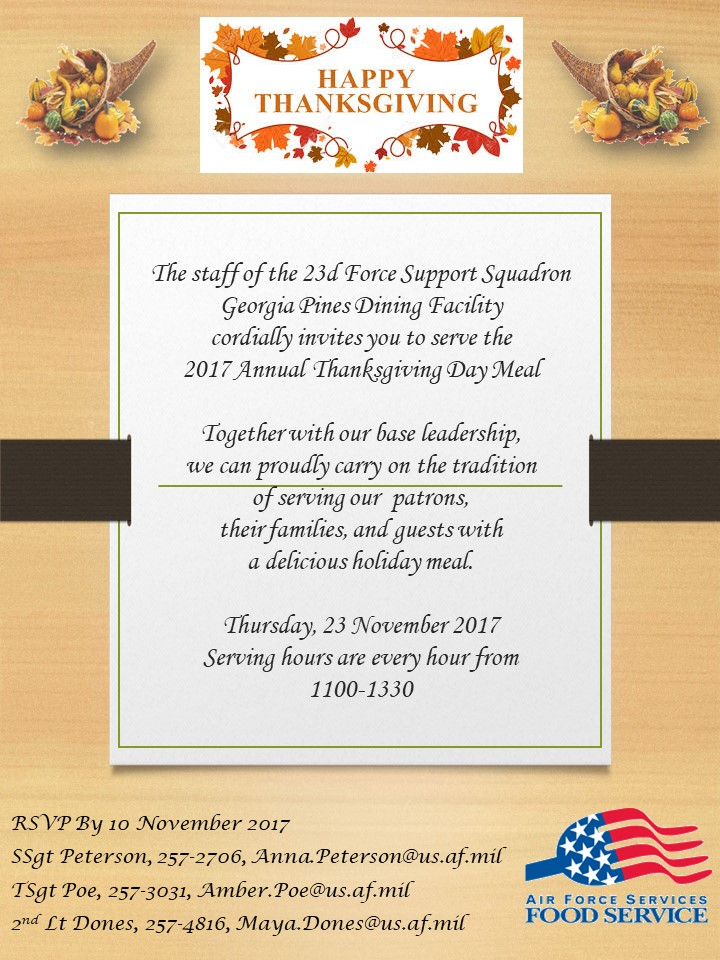 thanksgiving day meal moody afb force support squadron