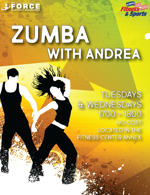 Zumba With Andrea @ Fitness Center