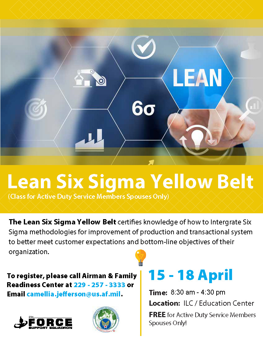 Lean 6 Sigma Yellow Belt - Moody AFB Force Support Squadron